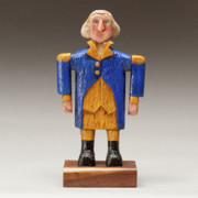 Wood Carving Sculpture Prints - George Washington Print by James Neill