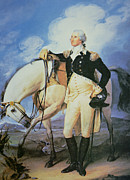 Male Posters - George Washington Poster by John Trumbull