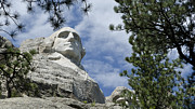 Thomas Jefferson Prints - George Washington on Mt Rushmore Print by Jon Berghoff