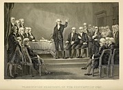 Democracy Framed Prints - George Washington Presiding Framed Print by Everett
