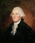 Founding Fathers Paintings - George Washington  by Rembrandt Peale