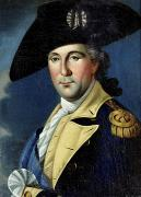 18th Century Framed Prints - George Washington Framed Print by Samuel King