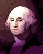 George Washington Drawings Prints - George Washington Print by Tray Mead