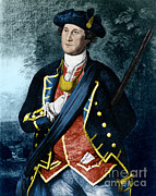 Colonial Man Posters - George Washington, Virginia Colonel Poster by Photo Researchers, Inc.