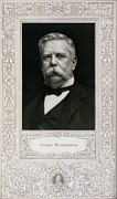 John Fritz Medal Framed Prints - George Westinghouse, American Engineer Framed Print by Science, Industry & Business Librarynew York Public Library