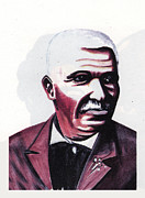 Diamond Drawings Prints - Georges Washington Carver Print by Emmanuel Baliyanga