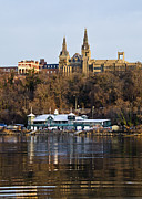 Potomac Prints - Georgetown University waterfront  Print by Brendan Reals