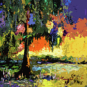 Moos Paintings - Georgia Okefenokee Live Oak and Spanish Moss by Ginette Fine Art LLC Ginette Callaway