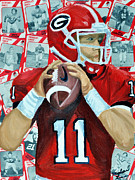 Uga Framed Prints - Georgia Quarterback Framed Print by Michael Lee