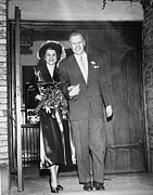 Gerald Ford Posters - Gerald And Betty Ford Walk Out Of Grace Poster by Everett
