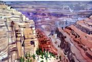Rim Paintings - Gerand Canyon View by Donald Maier