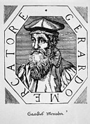 Woodcut Photo Framed Prints - Gerardus Mercator 1512-1594, Woodcut Framed Print by Everett