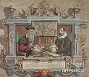 Well Known People Prints - Gerardus Mercator And Jodocus Hondius Print by Science Source