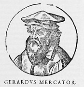 Cartographer Framed Prints - Gerardus Mercator, Flemish Cartographer Framed Print by Middle Temple Library
