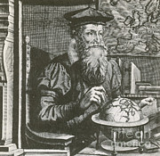 Cartographer Framed Prints - Gerardus Mercator, Flemish Cartographer Framed Print by Photo Researchers