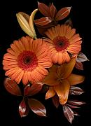 Mothers Day Art - Gerbera Cluster by Marsha Tudor