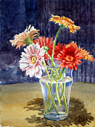 Gerbera Daisy Paintings - Gerbera Daisies by Peter Sit