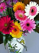 Gerbera Art - Gerbera Daisy Bouquet by Marilyn Hunt