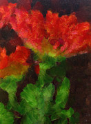 Gerbera Daisy Paintings - Gerbera Daisy in Red by Anne Kitzman