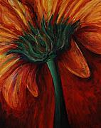 Gerbera Daisy Paintings - Gerbera Daisy by Nadine Rippelmeyer