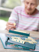 Board Game Photo Metal Prints - Geriatric Care Metal Print by Tek Image