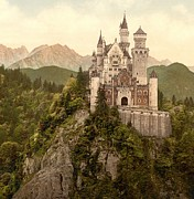 Padre Art Posters - German Castle Neuschwanstein Poster by Padre Art