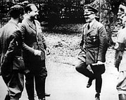 Hitler Photos - German Chancellor Adolf Hitler Right by Everett