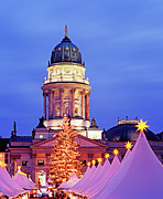 Christmas Star Posters - German Christmas Market Poster by Murat Taner
