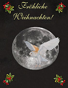 Ellenisworkshop Prints - German Christmas Owl Print by Eric Kempson