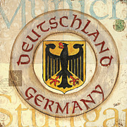 Royal Blue Posters - German Coat of Arms Poster by Debbie DeWitt