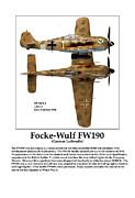 World War Two Photo Posters - German Fighter Focke Wulf Poster by Jerry Taliaferro