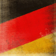Draw Prints - German flag Print by Setsiri Silapasuwanchai