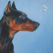 German Shepard Dog Prints - German Pinscher Print by Lee Ann Shepard