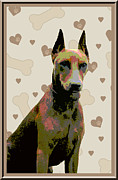 German Pinscher Print by One Rude Dawg Orcutt