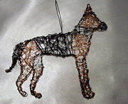 Dog Sculptures - German sheperd by Charlene White