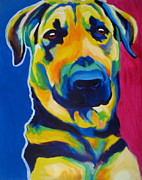 Dawgart Paintings - German Shepherd - Duke by Alicia VanNoy Call