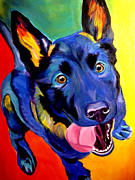 Performance Painting Framed Prints - German Shepherd - Phoenix Framed Print by Alicia VanNoy Call