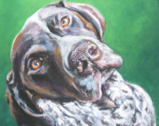 German Shepard Dog Prints - German Shorthaired Pointer Print by Lee Ann Shepard