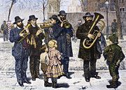 Trombone Art - German Street Band, 1879 by Granger