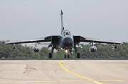 Anti German Prints - German Tornado Ecr On The Runway Print by Timm Ziegenthaler