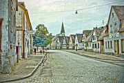 Signed Photo Posters - German Village Poster by Chuck Staley