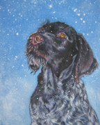 German Pointer Prints - German Wirehaired Pointer Print by Lee Ann Shepard
