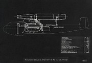 Blueprint Photo Prints - German Wwii Ramjet Bomber Blueprint Print by Detlev Van Ravenswaay