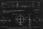 Blueprint Photo Prints - German Wwii Ramjet Engine Blueprint Print by Detlev Van Ravenswaay