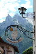 Mountain Acrylic Prints - Germany - Cafe Sign Acrylic Print by Carol Groenen