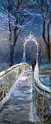 Snow . Bridge Framed Prints - Germany Baden-Baden 02 Framed Print by Yuriy  Shevchuk