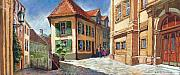 Buildings Pastels - Germany Baden-Baden 04 by Yuriy  Shevchuk