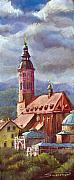 Old Pastels Prints - Germany Baden-Baden 05 Print by Yuriy  Shevchuk