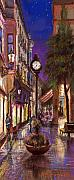 Night Pastels Metal Prints - Germany Baden-Baden 11 Metal Print by Yuriy  Shevchuk