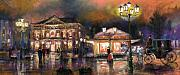 Night Lamp Pastels Prints - Germany Baden-Baden 14 Print by Yuriy  Shevchuk